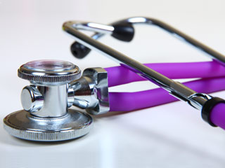 Purple stethoscope