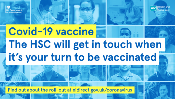 We will be in touch when it is your turn to be vaccinated.